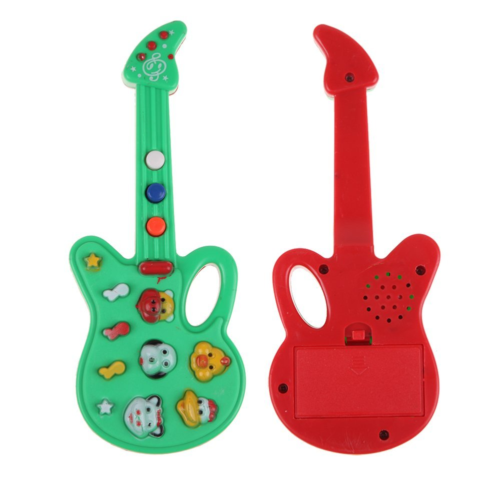 2x kind baby kinder listig e gitarre metrum entwicklungs musik ton spielzeug h3 ebay. Black Bedroom Furniture Sets. Home Design Ideas