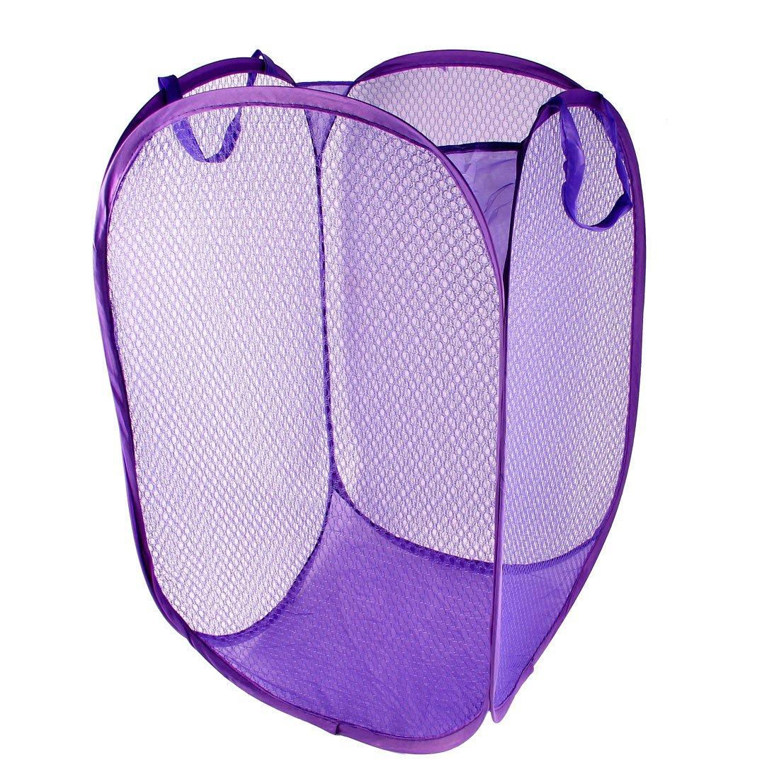 household dirty clothes laundry folding mesh bag basket holder t1 ebay. Black Bedroom Furniture Sets. Home Design Ideas