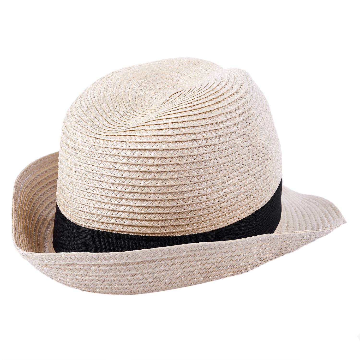 B3 Wholesale Straw Hat - Trilby Style Crushable Summer Sun ...