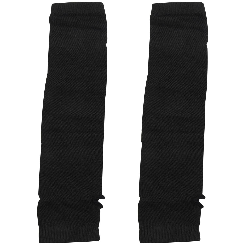 Lady-Stretchy-Soft-Arm-Warmer-Long-Sleeve-Fingerless-Gloves-Black-White-BG thumbnail 8