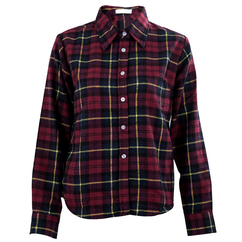 Womens shirt flannel shirts tops blouse green purple xl for White and black flannel shirt womens