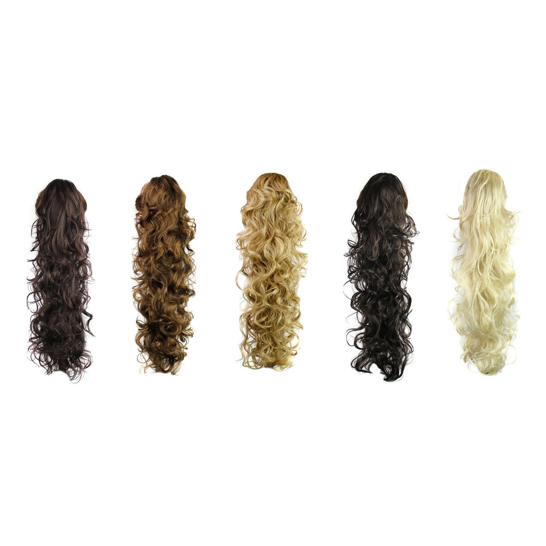 256 Long Claw Clip Drawstring Ponytail Fake Hair Extensions False