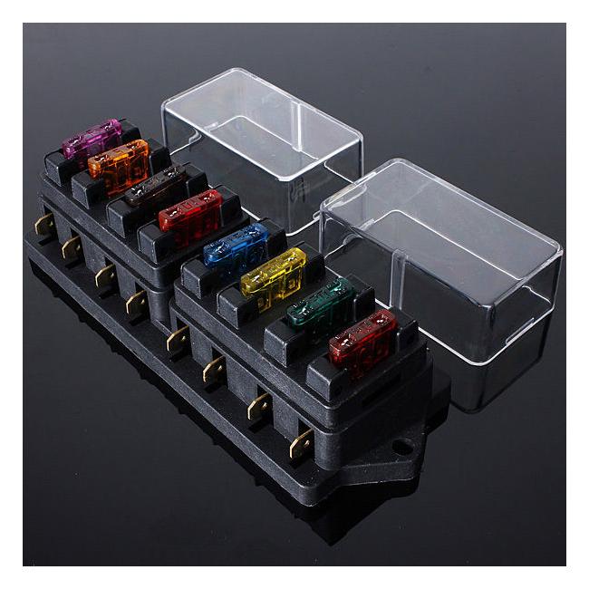 universal truck fuse box w6 12/24v universal car truck 8 way circuit standard blade ... mail truck fuse box diagram
