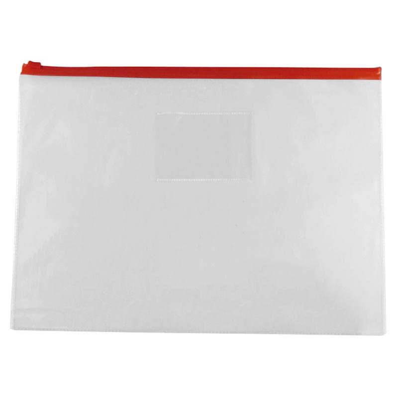 5 Pcs Clear Plastic Water Proof Pen A4 File Paper Ziplock