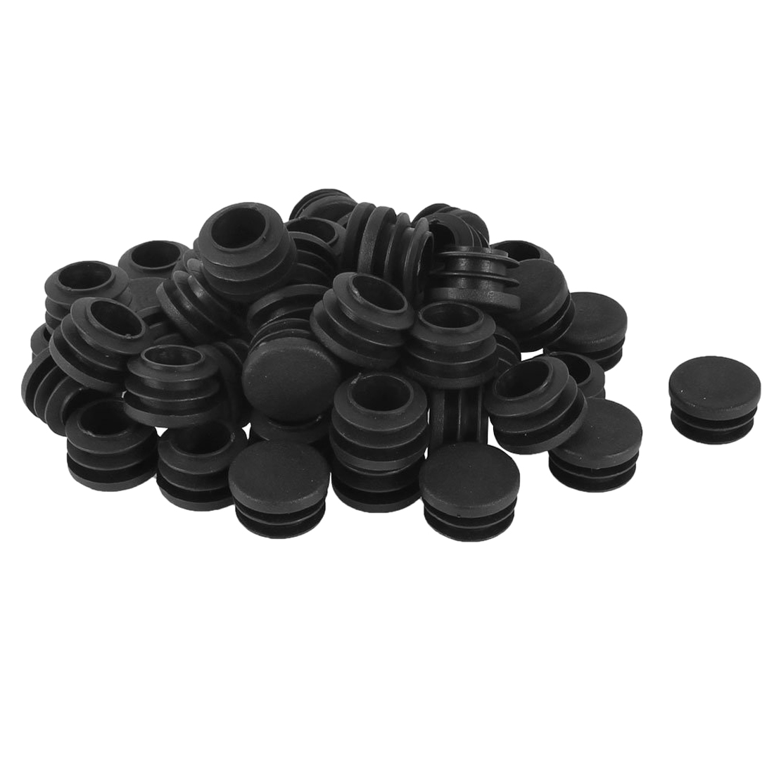 Plastic Round Cap Chair Table Legs Ribbed Tube Insert 22mm