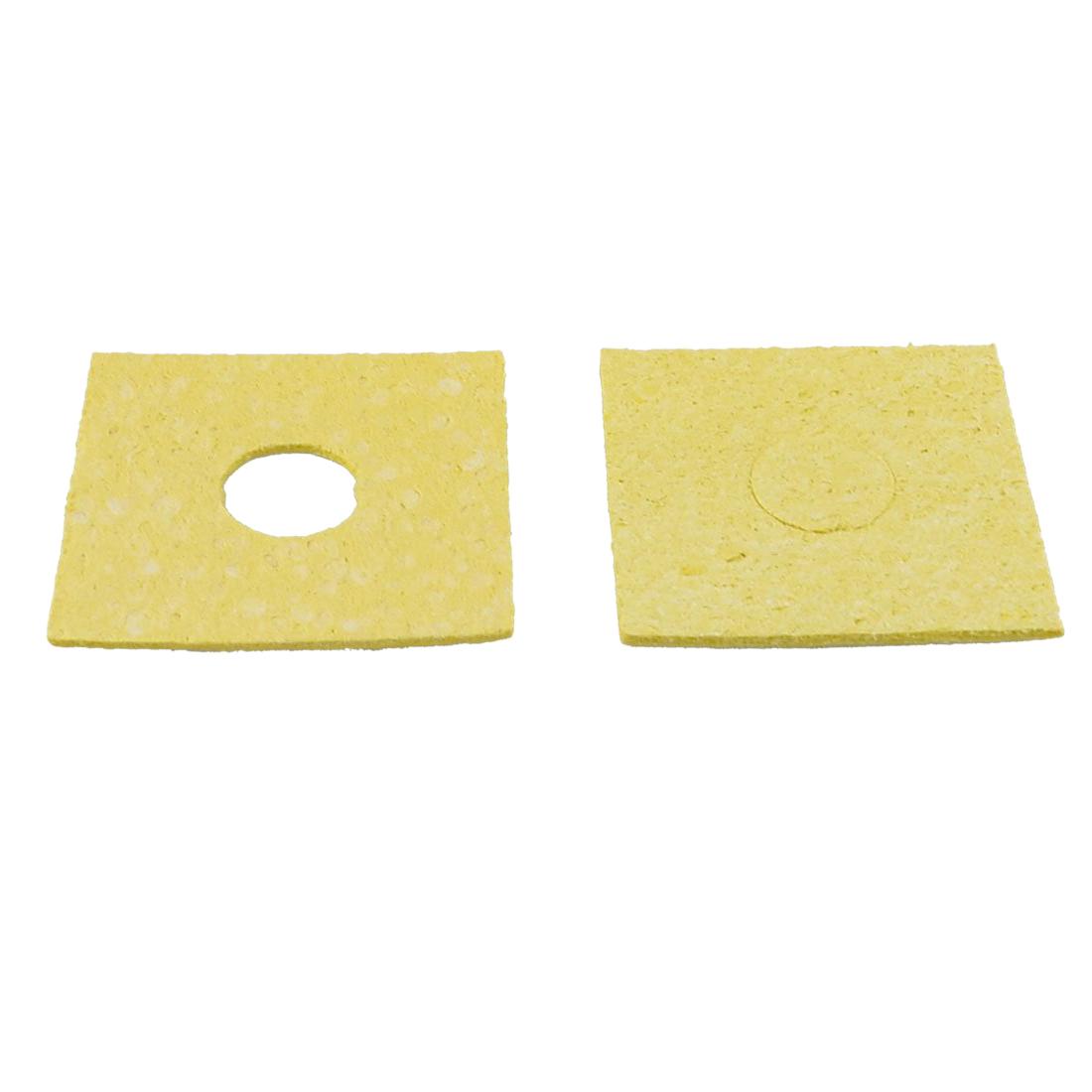50 stk gelb 60x60x3mm loeten station loetkolben reinigungsschwamm gy ebay. Black Bedroom Furniture Sets. Home Design Ideas