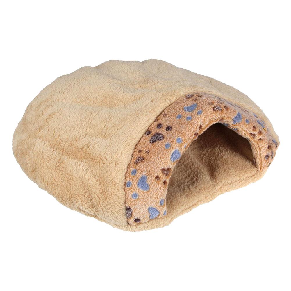 Cama de mitad cubierta de cojin de mascotas en forma de for Cama hamburguesa