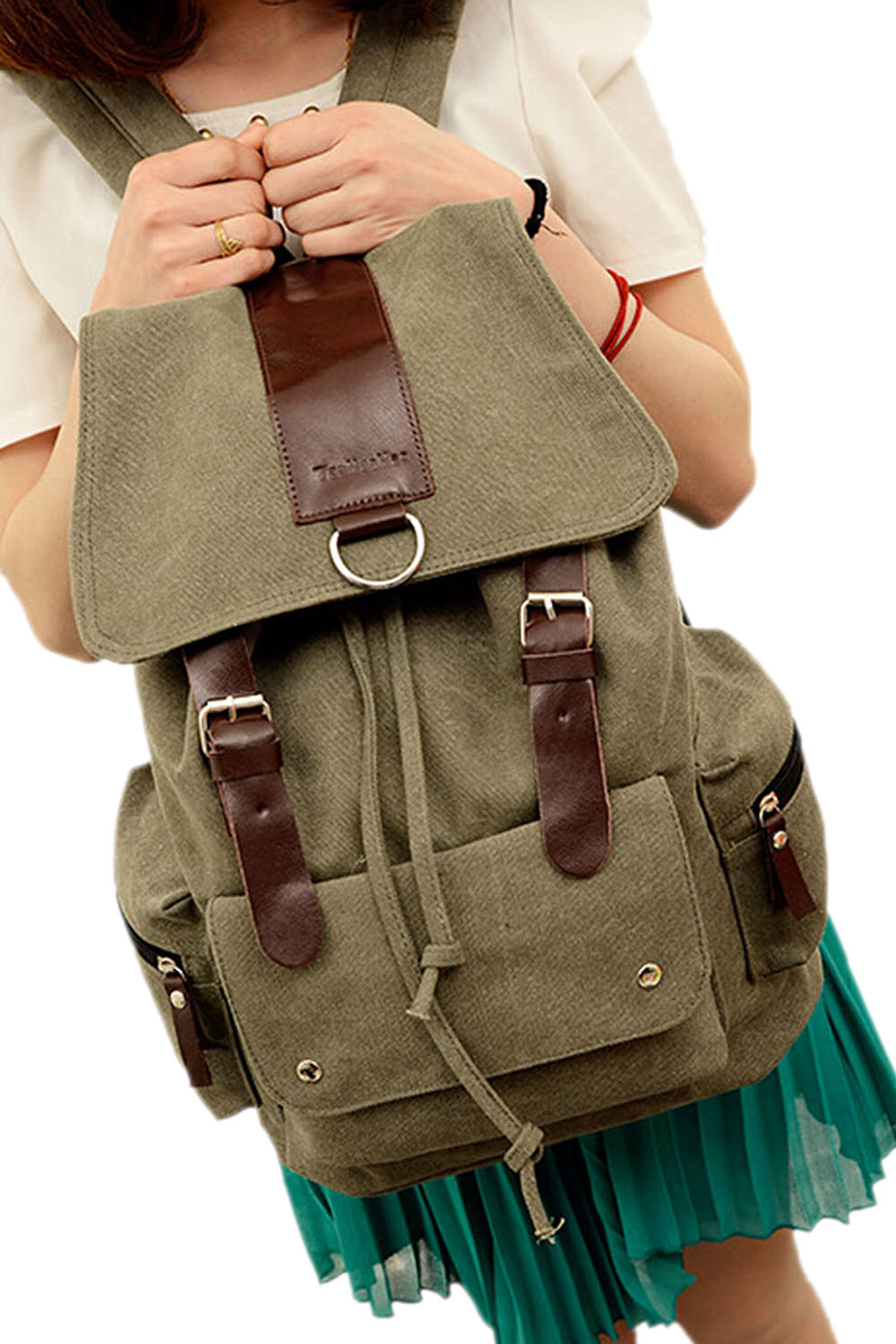 m889 retro leinwand leder wandern spielraum rucksack beutel braun ebay. Black Bedroom Furniture Sets. Home Design Ideas