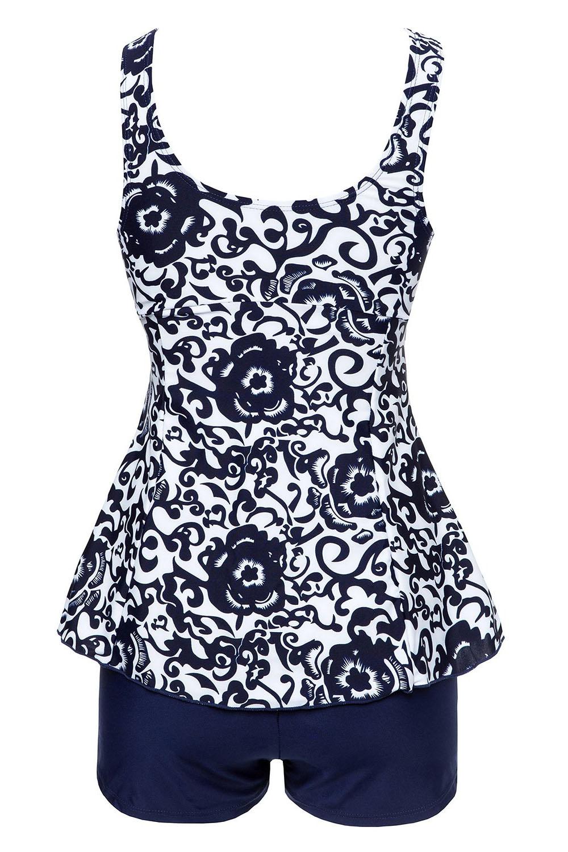 Women's Retro Vintage Fashion monokini Plus Size Swimsuit ...