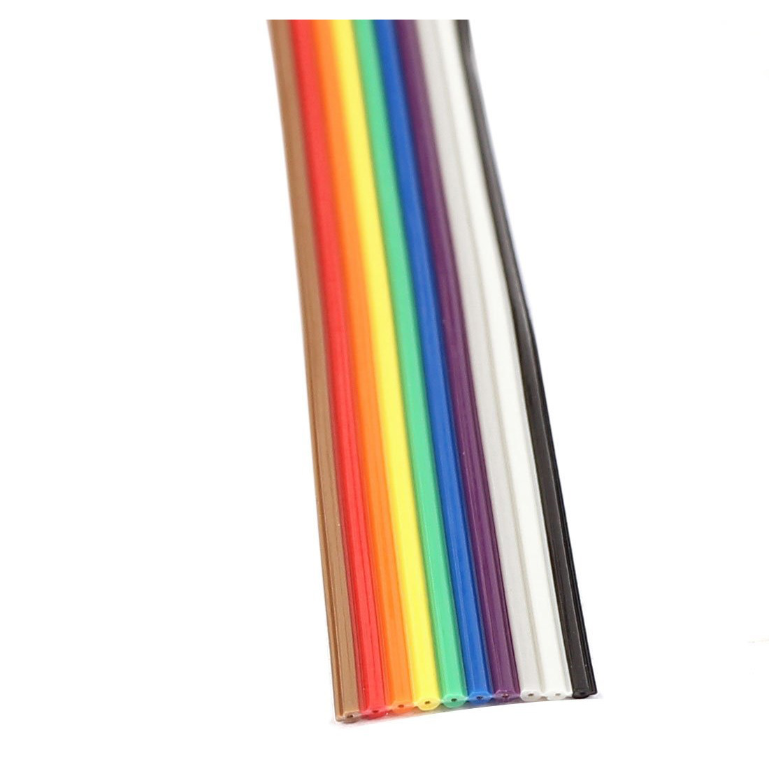 Rainbow Ribbon Cable 4 Conductor : M way rainbow color flat ribbon cable idc wire q ebay