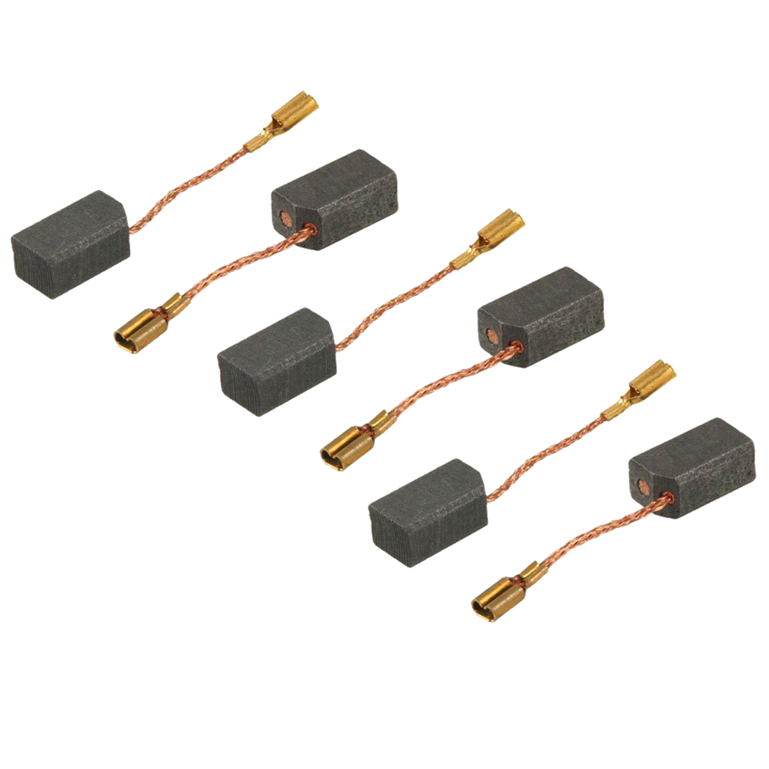 Replacement 6 7 13mm motor carbon brushes 5 pairs c4v4 for Dc motor brushes function