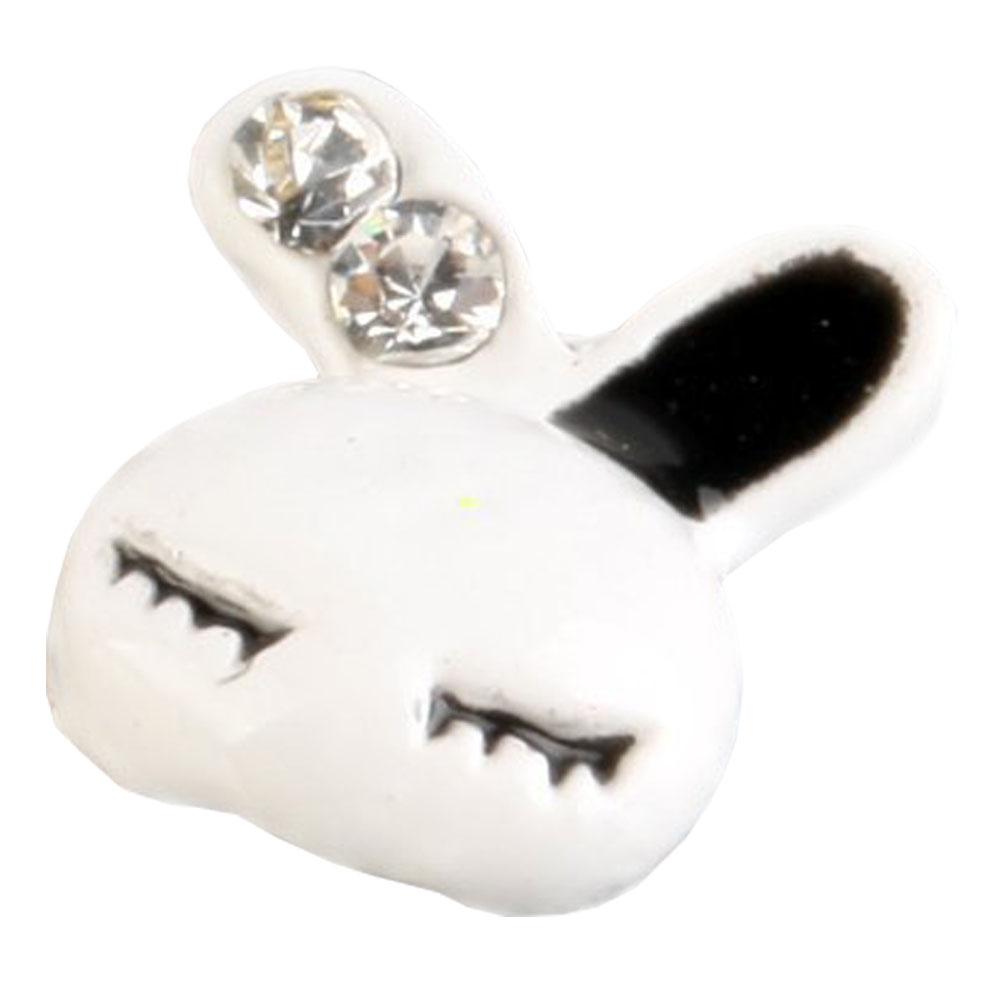 10 piezas 3D Pegatinas etiquetas de uñas de aleacion de conejo ...