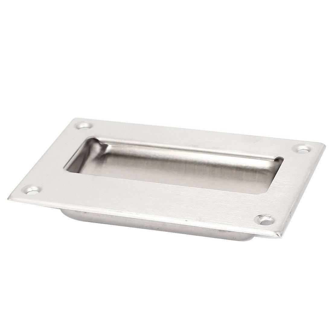 Steel recessed flush pull finger insert sliding door handle cp ebay
