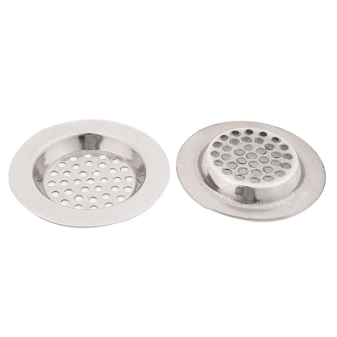 Bathroom Kitchen Stainless Steel Basin Sink Drain Strainer 2pcs Ws Ebay