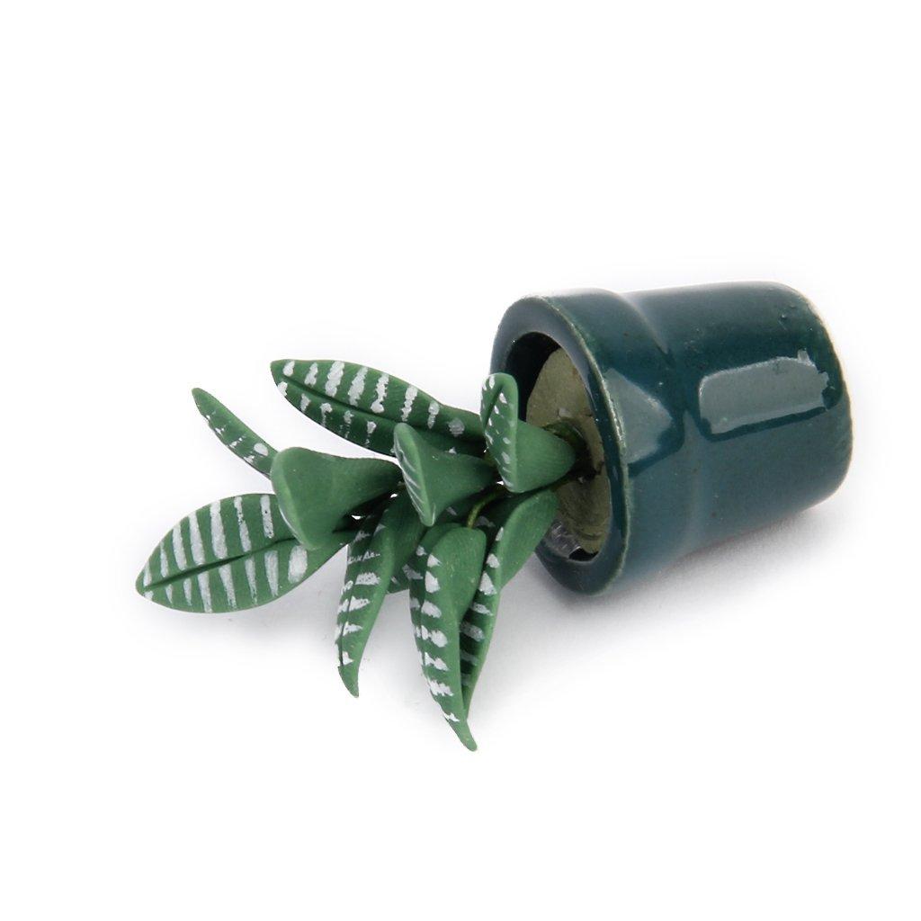 1 12 gruen pflanze im topf puppenhaus miniatur garten zubehoer de. Black Bedroom Furniture Sets. Home Design Ideas