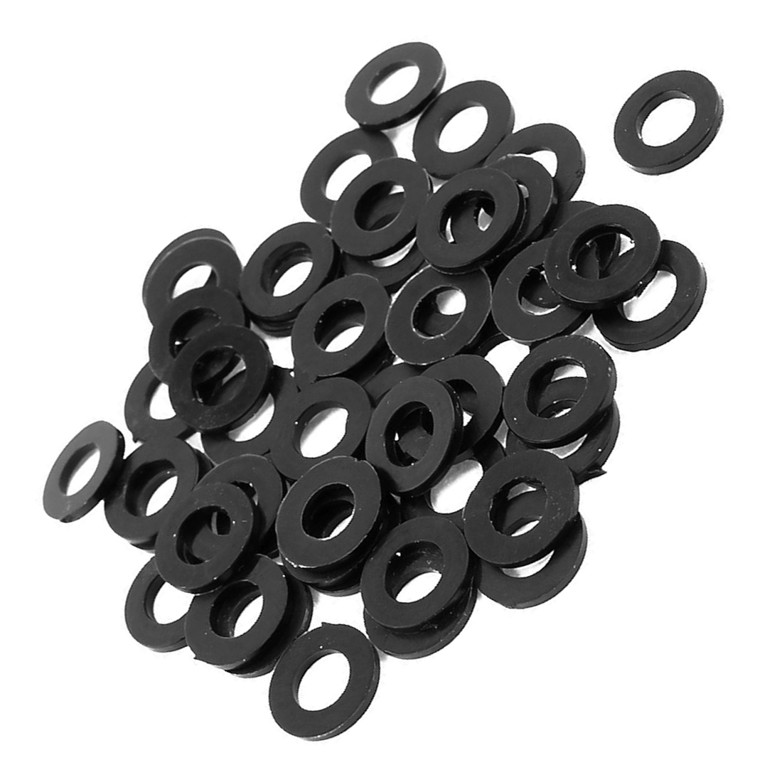 50pcs m5 x 10mm plastic spacer flat nylon standoff washer insulation cr ebay. Black Bedroom Furniture Sets. Home Design Ideas