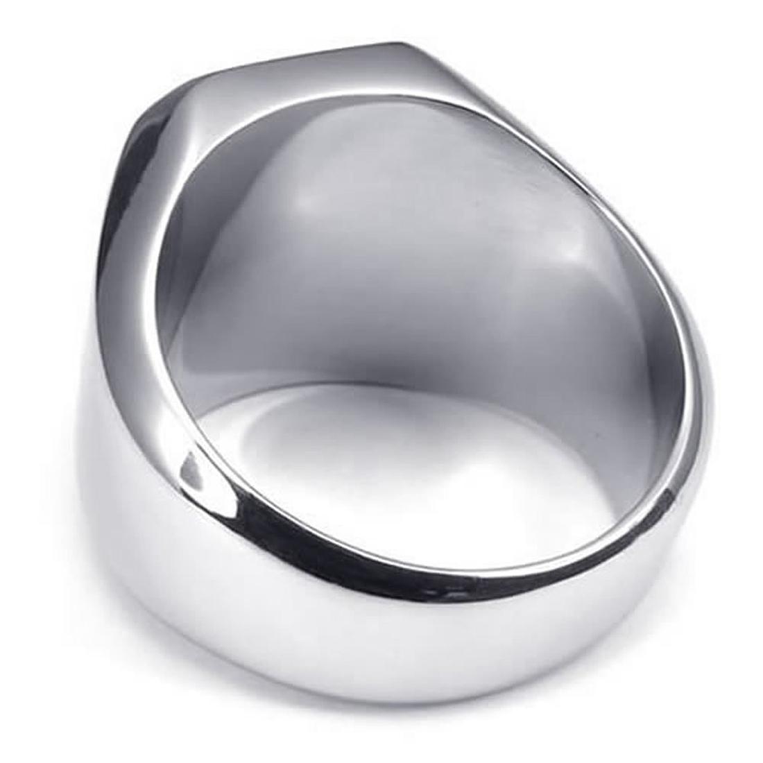 Schmuck herren  Schmuck Herren-Ring, Edelstahl, Siegelring, Silber DE | eBay