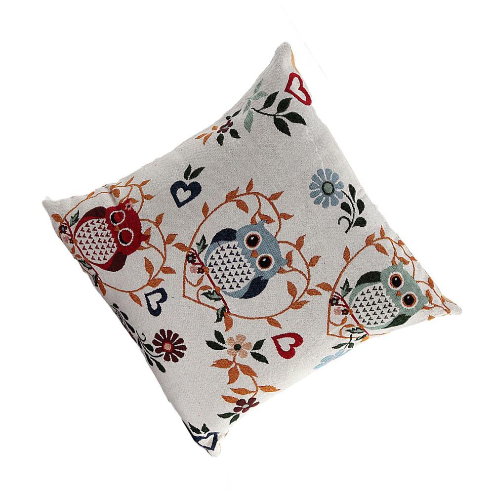 Cute Owl Pillow Pattern : Cute Owl Pattern Linen Decorative Head Pillow Cover Home Cushion Cover F6 eBay