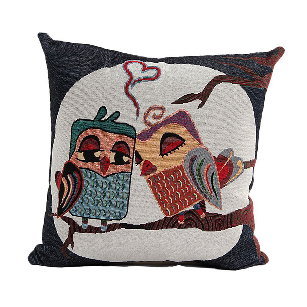 Cute Owl Pattern Linen Decorative Head Pillow Cover Home Cushion Cover F6 eBay
