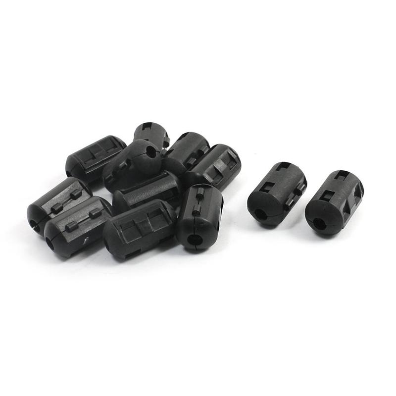 3X 6 mm Stromkabel Zylindrische EMI-Unterdrueckung Ferritkern 12 Stueck Fil GY