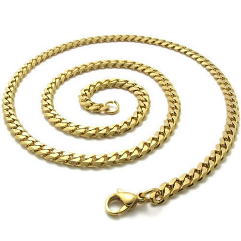 v gold men chain necklaces gauge mens s piercing male pagoda necklace figaro c