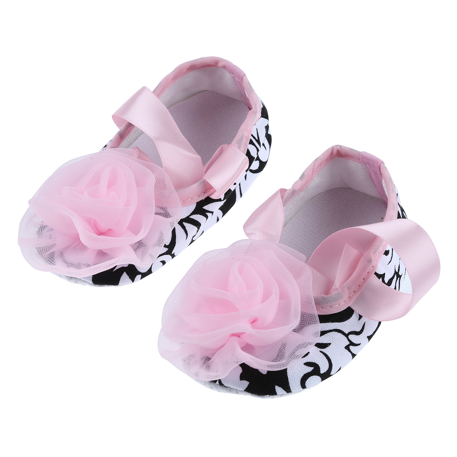 2x toddler infant baby shoes soft soles non slip pink