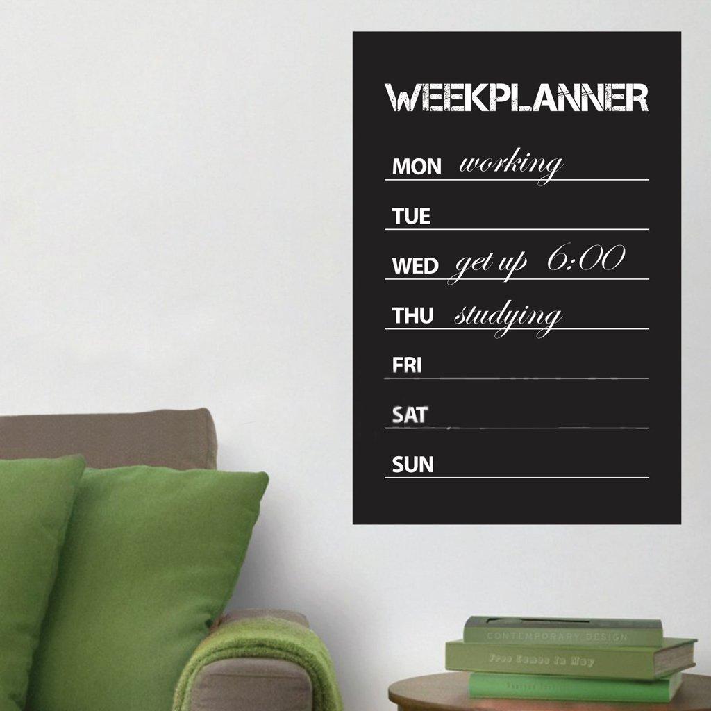 wochenplaner tafel wand aufkleber entfernbarer tafel aufkleber zuhause deko et ebay. Black Bedroom Furniture Sets. Home Design Ideas