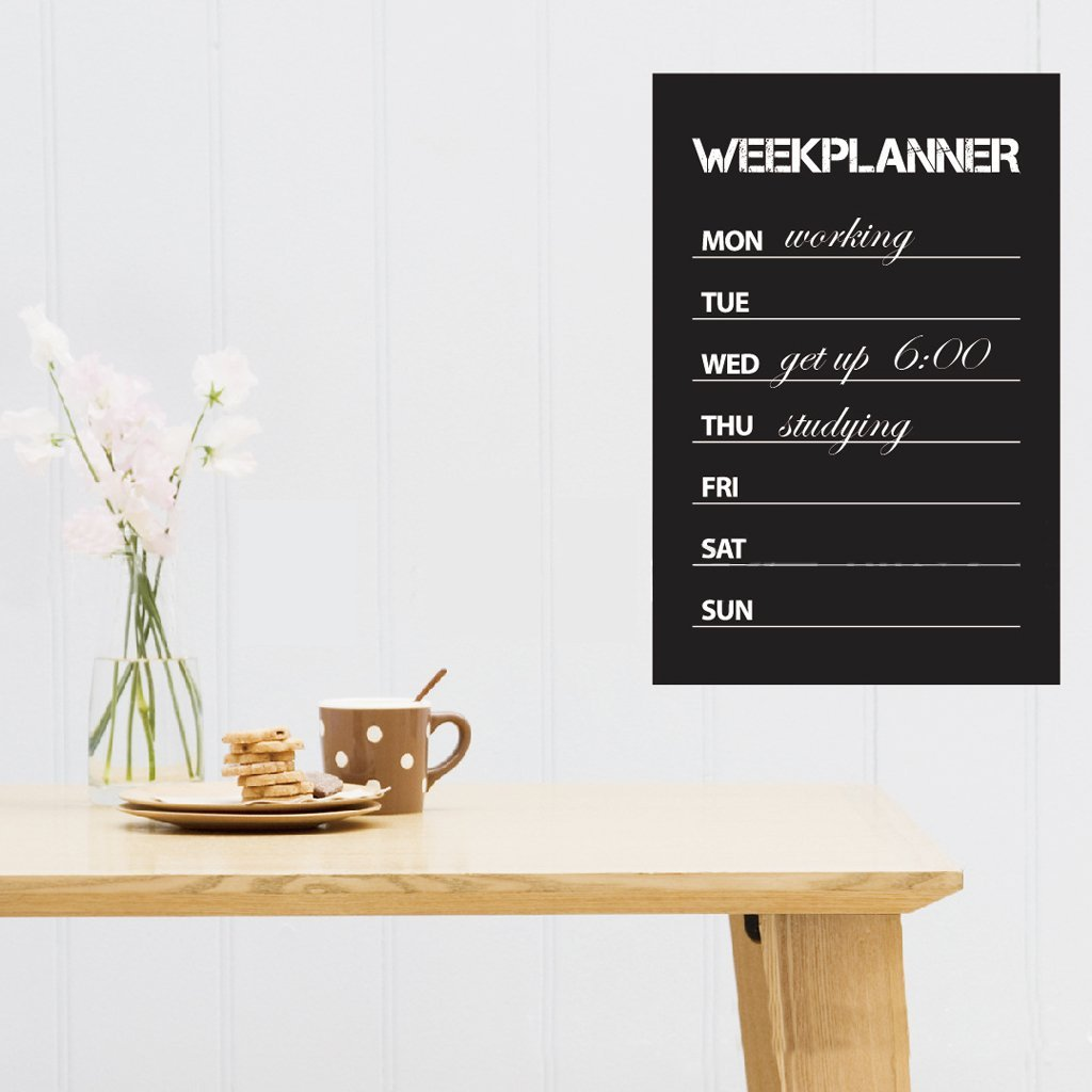 wochenplaner tafel wand aufkleber entfernbarer tafel aufkleber zuhause deko gy ebay. Black Bedroom Furniture Sets. Home Design Ideas