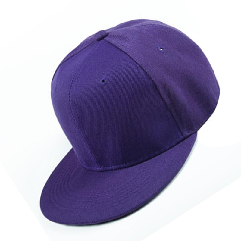 Plain Re-entry Hip-Hop Baseball Cap Boy Adjustable Hat Dark blue N8T2