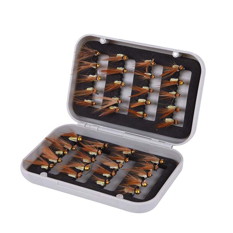 8X(40  Dry fly flying hooks Realistic Spring Bait Trout salmon bait set w N5C9)