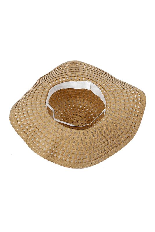 Sombrero de sol decorado lazo de encaje chico caqui para mujer C4B5 ... 759e7a66bda
