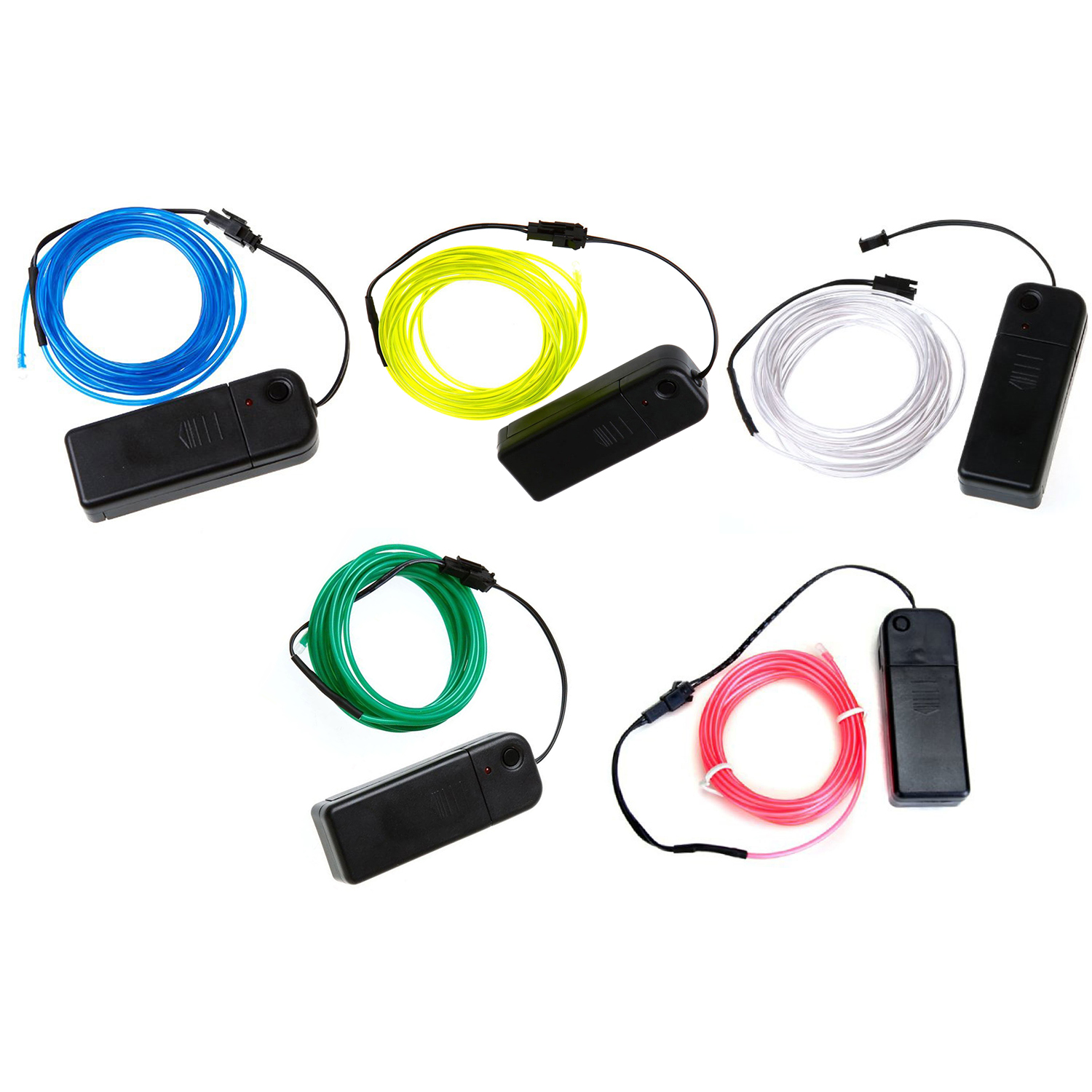 Neon glowing electroluminescent wire el with