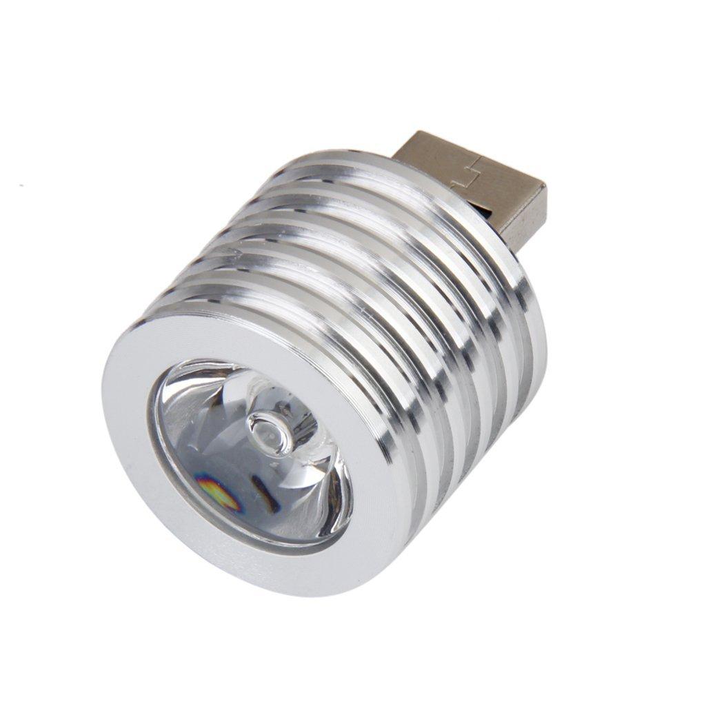 aluminium 3w usb led lampe sockel spotlight taschenlampe weiss licht gy ebay. Black Bedroom Furniture Sets. Home Design Ideas