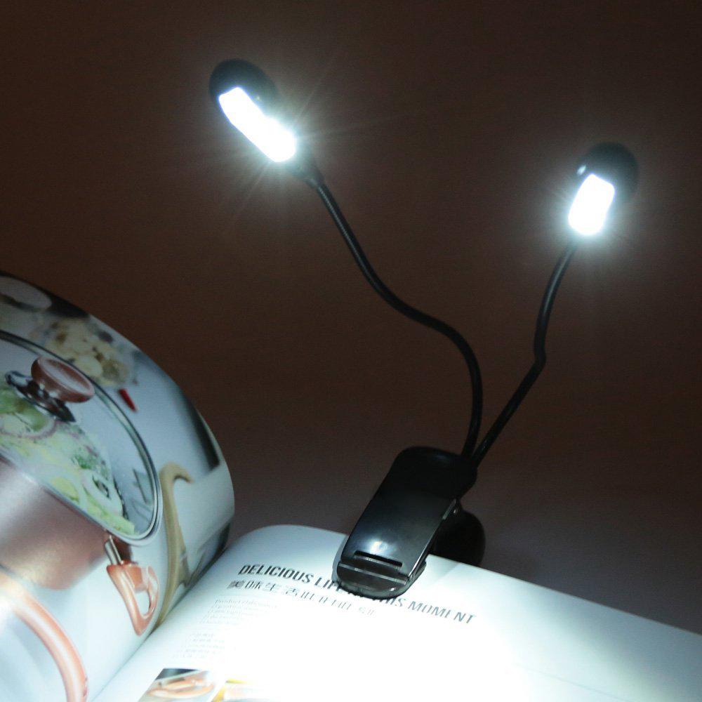 leselicht fuer kindle eflex cs e reader lampe aus schalter 8 leds dk y5i7 ebay. Black Bedroom Furniture Sets. Home Design Ideas