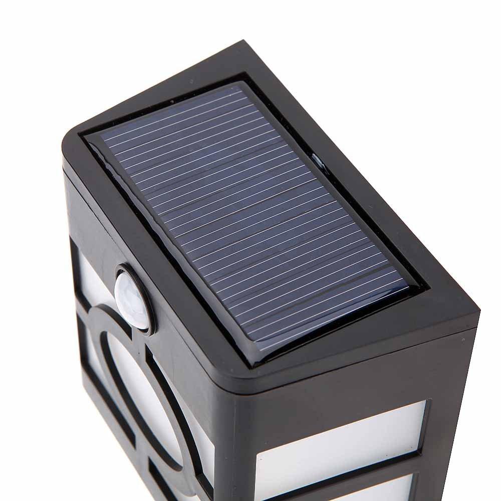 10 leds solarleuchten lampe mit bewegungsmelder licht. Black Bedroom Furniture Sets. Home Design Ideas
