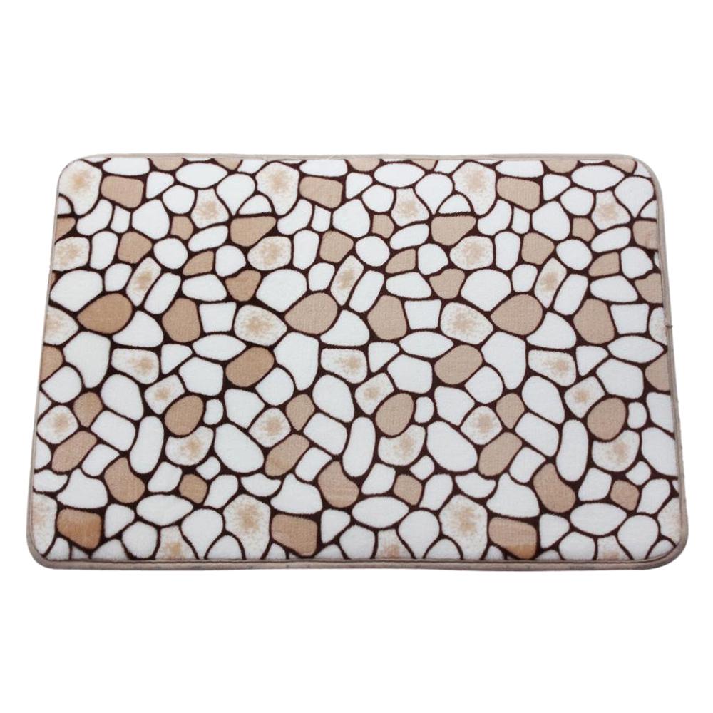 Stein Korallen Samt Teppich Waschbare Fussmatte Badematte