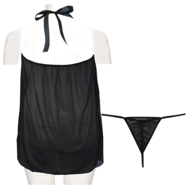 Women-Sexy-Lingerie-BabyDoll-Sleepwear-Nightgown-Dress-Nightwear-with-G-Str-A8U6
