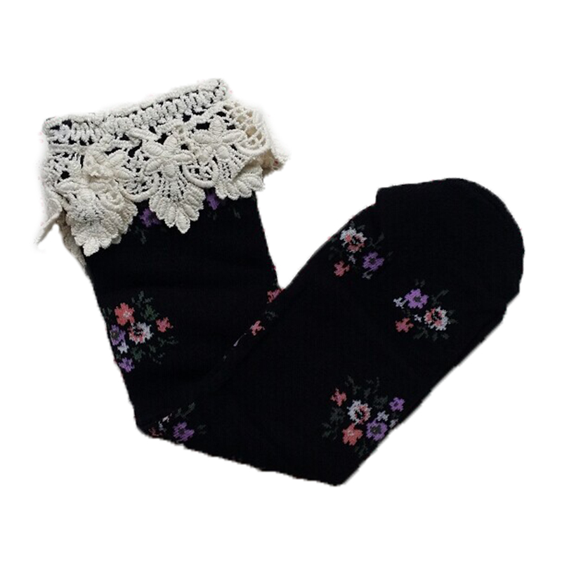 081e1d0d3 Baby Girls Teens Little Lace Flower High Socks Knee High In Tube ...
