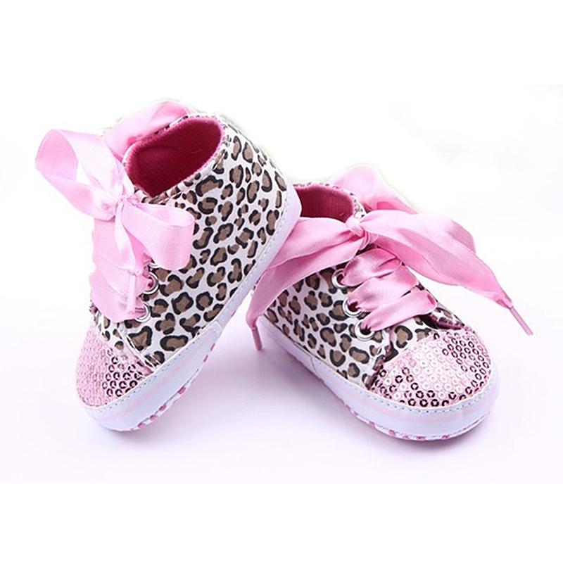 Neue Kleinkind Leopard Pailletten Turnschuhe Baby Maedchen weiche alleinig N7L0