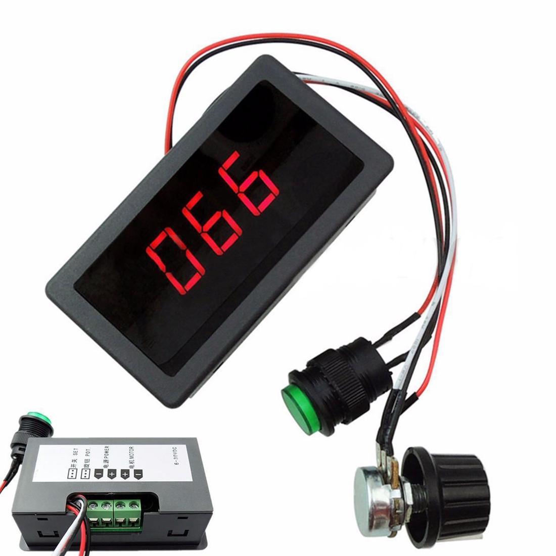 6 30v 12v 24v Max 8a Pwm 16khz Motor Speed Controller
