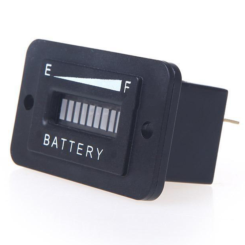 Battery Charge Monitor : Battery status charge indicator monitor meter gauge led