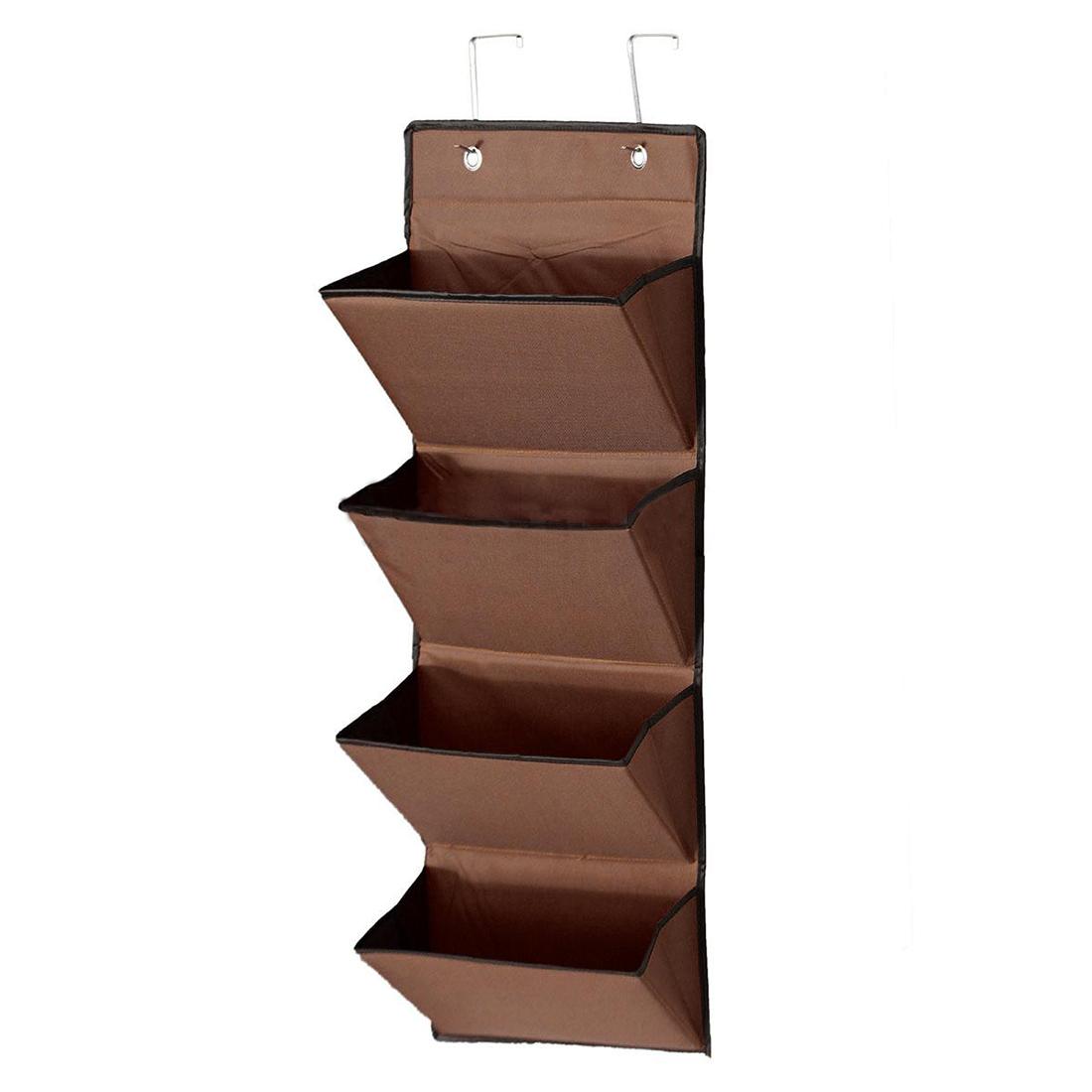 4 Tier Wall Door Hanging Organiser Storage Rack Bag Cloth