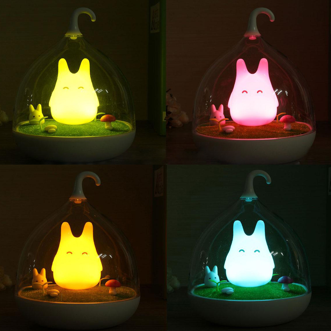 kinder baby maedchen usb led licht kaefig touch sensor nachtlicht lampe hau l1s7 ebay. Black Bedroom Furniture Sets. Home Design Ideas
