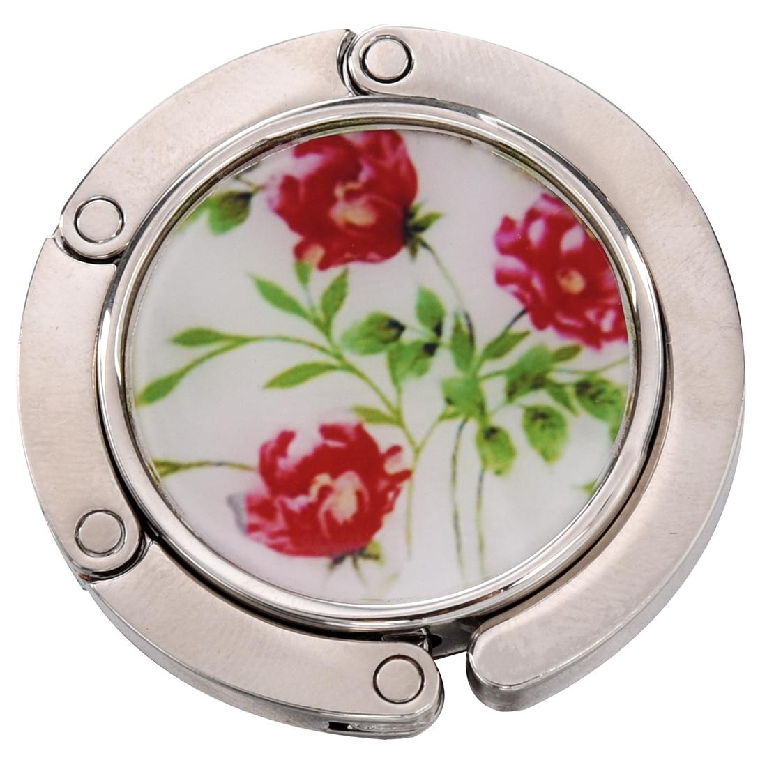 Image Is Loading Three Flowers Plants Prints Foldable Handbag Hook Holder