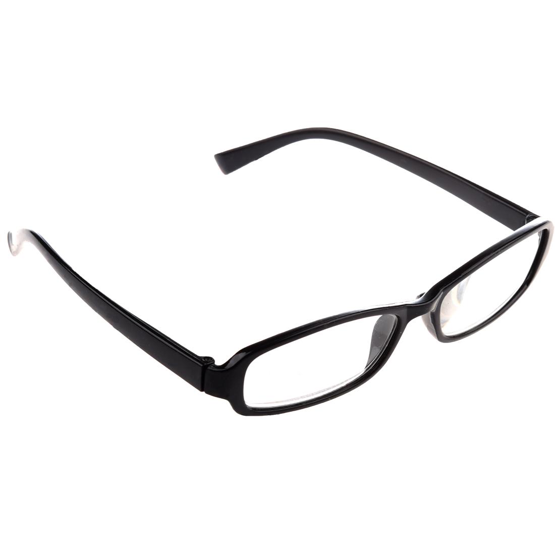 black plastic arms frame reading glasses 3 50 for