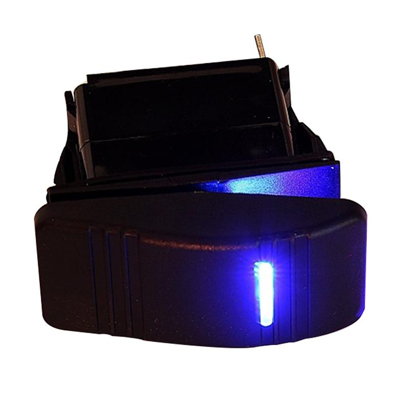 12V Auto Boot Wippe LED Licht beleuchtet SPST Ein-Aus Schalter Wasserdicht J4D4