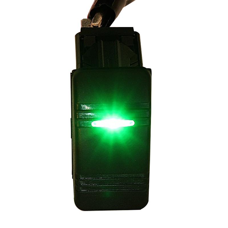 12V Auto Boot Wippe LED Licht beleuchtet SPST Ein-Aus Schalter Wasserdicht  L2H7