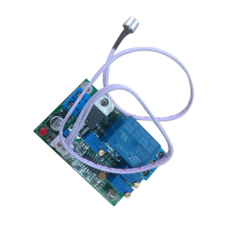 Sound And Light Control Delay Motion Sensor Switch For: 5V 12V 24V DC Sound Sensor Light Control Relay Switch