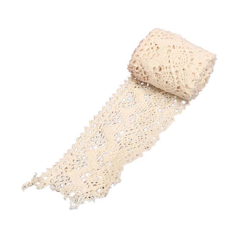 20X(1 pcs Lace Wedding Vintage Lace Edge Trim Wedding Lace Edge Beige 4x82 N5G2)
