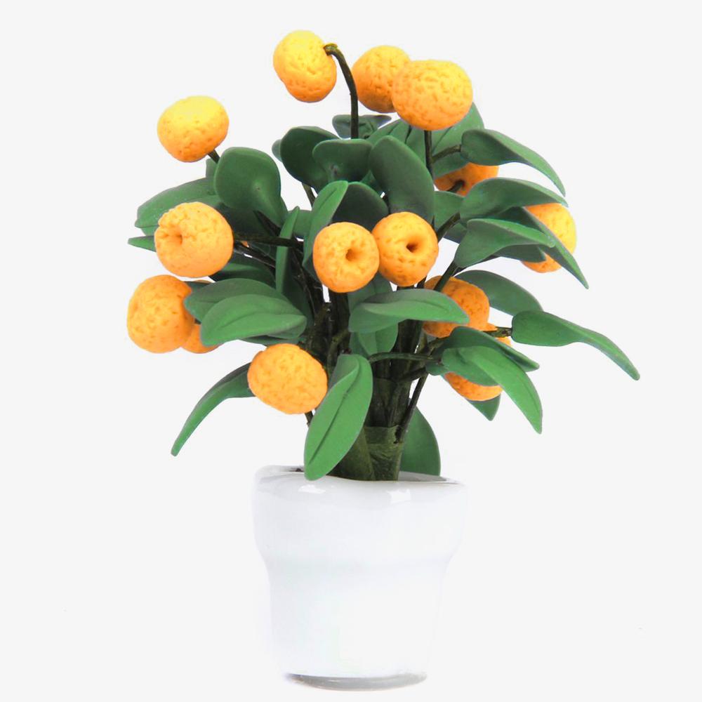 1 12 kumquat baum fruechte im weissen topf puppenhaus miniatur gartenzubehoer et ebay. Black Bedroom Furniture Sets. Home Design Ideas